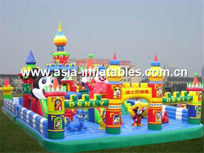 Giant Inflatable Funfair In Joker Design For Outdoor Entertainment Park