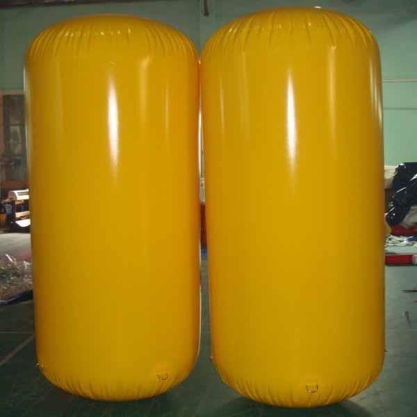 Cylinder Inflatable Buoy Water Games , Inflatable Air Buoy For Swimming Event