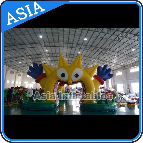 Running Competition Inflatable Start Line Arch With Legs , Inflatable Start Line