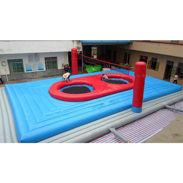Inflatable Round Interactive Sport Game Bossaball Court for Sale