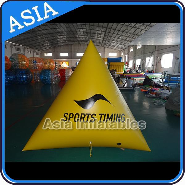 Race Mark Orange Inflatable Tetrahedron Buoy