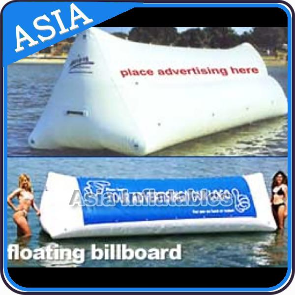 Inflatable Billboard / PVC Tarpaulin Advertising Inflatables Water Billboard