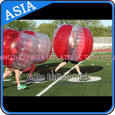চীন 100% PVC Inflatable Bumper Ball ,  Half Red Bubble Soccer , Loopy Balls , Soccer Bubble Balls কারখানা