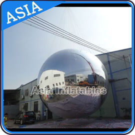 Silver Customized 8m Advertising Inflatable Commercial Mirror Balloon