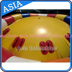 চীন Hot Welding Yellow 12 Person Inflatable Disco Boat For Towable Water Games কারখানা