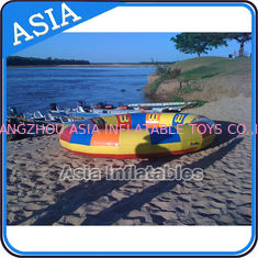 চীন Waterproof 10 Person Round / Disc Inflatable Disco Boat Hot Welding With Blowers কারখানা
