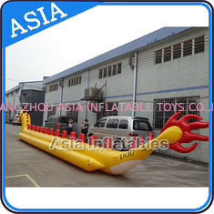 চীন Yellow Dragon Banana Shaped Inflatable Boats 12 Person Water Sport Games For Adult কারখানা