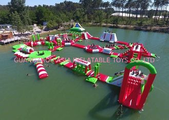 চীন Red and Green Moving Inflatable Aqua Water Park For Sea Or lake সরবরাহকারী