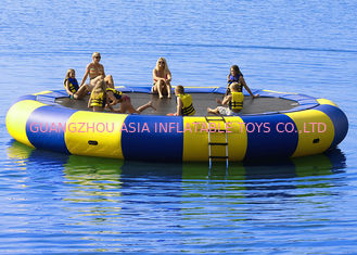 চীন 4m bule and yellow water trampoline, inflatable water games trampoline কারখানা