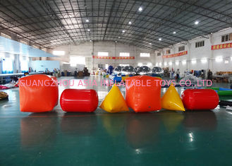 চীন Triangle ,  Cube Shape and Cylinder shape of Inflatable Buoy On Sale For Water Games কারখানা