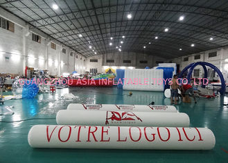 চীন Inflatable Promoting Strip Buoy For Ocean Or Lake Advertising , Inflatable tube buoys কারখানা