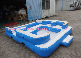 চীন Entermainment 6 Person Inflatable Floating Island , Inflatable Shock Rocker কারখানা