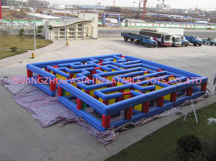চীন Inflatable Tunnel Maze Game, Inflatable Maze Field For Chilren কারখানা