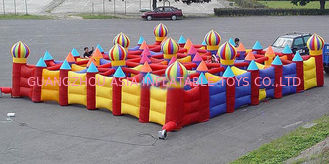 চীন Outdoor Inflatable Maze Games For Outdoor Amusement Park Games কারখানা