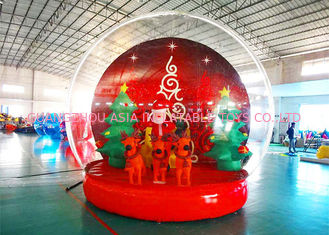 চীন Holiday Decoration Large Christmas Inflatable Snow Globe 3m To 8m Diameter কারখানা
