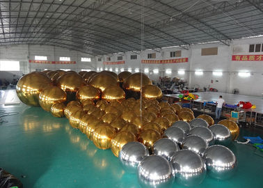 চীন Outdoor Live Concert Advertising Inflatables Decoration Sliver Reflect Inflatable Mirror Balloon কারখানা