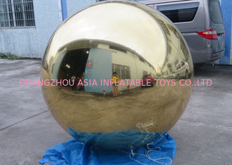 চীন Inflatable Gold Mirror Balloon With Reflection Effect For Decoration On The Floor কারখানা