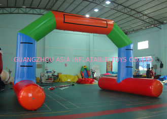 চীন Custom Welding White Blue Inflatable Entrance Arch With Logo Print For Promotion কারখানা