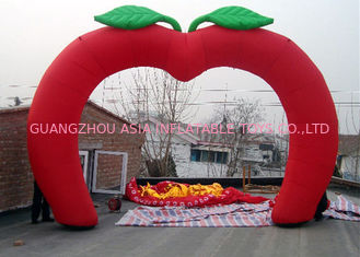 চীন Custom New Design Welcome Gate Inflatable Arch, Inflatable Red Apple Archway কারখানা