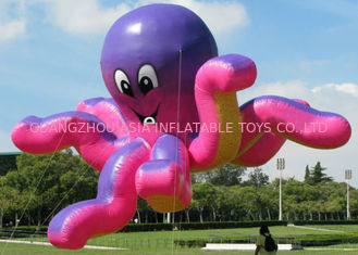 Advertising Inflatable Octopus / Octopus Flying Customized Ball