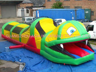 চীন Inflatable Tunnel Maze , Snake Train Tunnel For School Amusement Equipment কারখানা