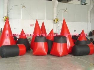 চীন Red 0.6mm Pvc Tarpaulin Inflatable Paintball Bunker For Paintball Sports কারখানা