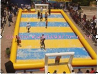 চীন Customized Excellent Inflatable Water Soccer Field / Sports Inflatable Yellow Soccer Field কারখানা
