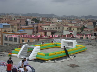 চীন Giant Commercial Inflatable Soccer Field For Kids With 0.6mm Pvc Tarpaulin কারখানা