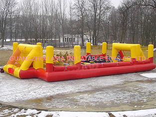 চীন Child Play Pvc Tarpaulin Inflatable Soccer Field / Sports Games Football Land Oem কারখানা
