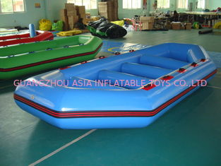 চীন 3.2m Long PVC tarpaulin Blue Color Inflatable Boat for 8 Persons কারখানা