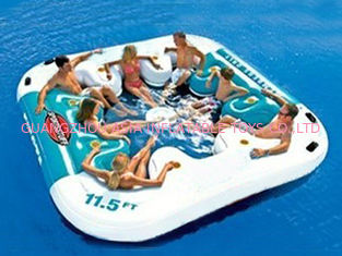 চীন Water Proof Fiesta Inflatable Floating Island , Family Inflatable Boat কারখানা