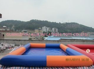 Colored Rectangular Kids Inflatable Pool for Water Park Games Using