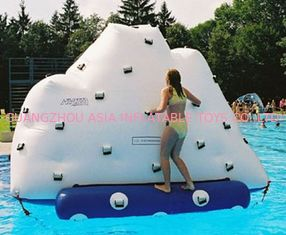 3m Height Inflatable Water Sports , Inflatable Climbing Wall With Water Slide