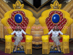 চীন Hot Selling Replicas Inflatable Advertising King Sofa , Inflatable King Chair কারখানা