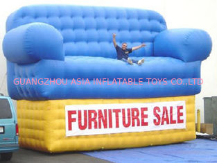 চীন Blue Advertising Inflatables Couch Sofa Manufacturer With Wholesale Price কারখানা