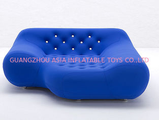 চীন Eco-Friendly Pvc Airtight Advertising Inflatables Air Sofa Chair In Dark Blue Color কারখানা