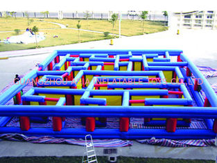চীন Outdoor Inflatable Maze Obstacle, Inflatable Maze Crossing Game For Kids কারখানা
