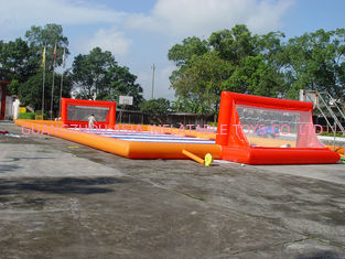চীন Exciting Sport Games Inflatable Soccer Fields / Newest Inflatable Football Gate কারখানা