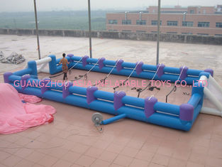 চীন Safe Giant Soccer Field Inflatable Football Playground Indoor / Inflatable Soccer Field কারখানা