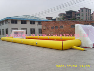 চীন Adult Large Inflatable Soccer Field / Fun Football Field Artificial Grass কারখানা