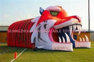চীন Giant Inflatable Tiger Tunnel, Infaltable Tunnel For Outdoor Advertising কারখানা