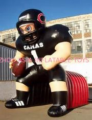 চীন Inflatable Tunnel With NFL Player Model For Event Promotion And Advertising কারখানা