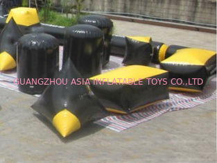 চীন Inflatable Paintball Bunker with 110V or 220V 680W Air pump কারখানা