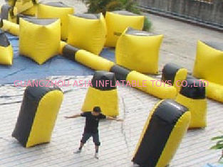 চীন Inflatable paintball bunker blindage with durable vavles কারখানা