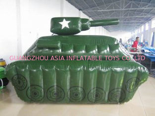 চীন 0.6mm / 0.9mm PVC Tarpaulin Fabric Inflatable Paintball Bunker কারখানা