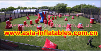 চীন 0.6mm PVC Inflatable Paintball bunker for paintball Sports কারখানা