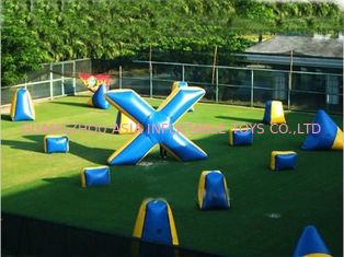 চীন Commercial Grade PVC Tarpaulin Inflatable Paintball Bunker কারখানা