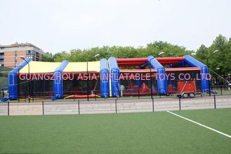 চীন 0.4mm PVC tarpaulin detachable Inflatable Paintball Bunker Arena কারখানা