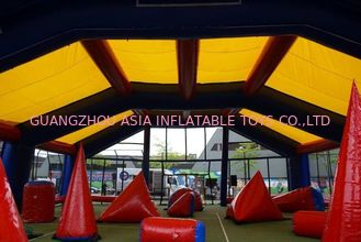 চীন Water proof and fire resistant Inflatable paintball bunker tent কারখানা