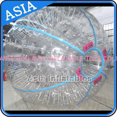 চীন Ce Certificated Transparent Inflatable Zorb Ball In Clear With Color Stirps কারখানা